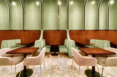 a soft, warm materiality involes a modern, yet recognizable, diner aesthetic with the comfort of a living room.