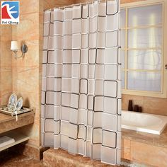Cheap waterproof shower curtain, Buy Quality brand shower curtain directly from China quality shower curtain Suppliers: Feiqiong Brand Waterproof Shower Curtain With Hook Plaid Bathroom Curtains High Quality Bath Bathing Sheer For Home Decoration