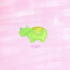 Alphabet Adventure Sugar Hippo Canvas Art