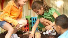 Backyard play city -Fun project to keep my kids busy this summer! Backyard play city -Fun project to Outdoor Play Spaces, Kids Outdoor Play, Backyard Play, Kids Play Area, Outdoor Toys, Backyard Projects, Outdoor Fun, Fun Projects, Play Areas
