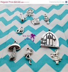 SALE Add-On Charms -- Variety of Charms to Add to Your Piece Mushroom, Rose, Doll, Alice in Wonderland, Flamingo Personalized Jewelry