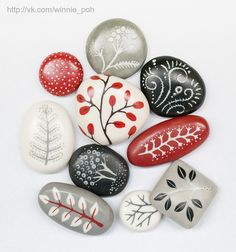 Beads cute painted ladybug rocks rock crafts for kids Rock Painting Patterns, Rock Painting Ideas Easy, Rock Painting Designs, Paint Designs, Pebble Painting, Pebble Art, Stone Painting, Faux Painting, Painting Art