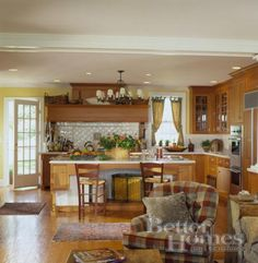 wooden cabinets & white countertop