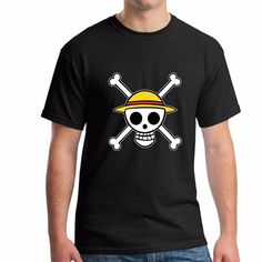 One Piece Luffy Skull Logo Short Sleeve T-Shirt 6 Colors