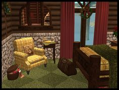 Various recolors Outdoor Furniture Sets, Outdoor Decor, Sims 2, Winter Holidays, Holiday Gifts, Hoods, Cabin, Rustic, Vacation