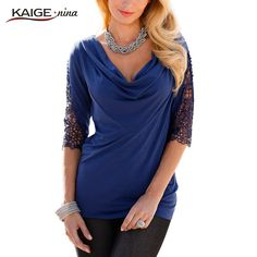 KaigeNina New Fashion Hot Sale Women Shirts Multiple Colors Half Sleeve O Neck Shirt Sexy Lace Blouse 2158-in Blouses & Shirts from Women's Clothing & Accessories on Aliexpress.com | Alibaba Group