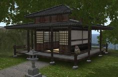 Traditional Japanese Tea House | Hosoi Ichiba - Japanese Buildings, Japanese Furniture & Lifestyle: New ...