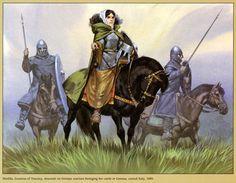 Tuscany warriors, central Italy, 1089