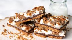 Double Graham Chocolate Smore Bars via Lilyshop by Jessie Daye