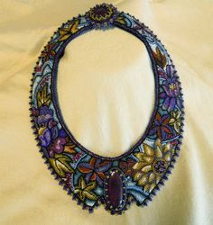Fall into Winter beaded collar by thistledew4u on Etsy, $2500.00