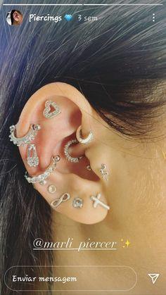 Pretty Ear Piercings, Piercing Tattoo, Jewelry Accessories, Fashion Jewelry, Jewels, Tattoos, Apple Iphone, Earrings, Neon