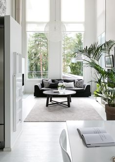 Find your favorite Minimalist living room photos here. Browse through images of inspiring Minimalist living room ideas to create your perfect home. Living Room Interior, Living Room Furniture, Living Room Decor, Wood Furniture, Furniture Logo, Home Design, Home Interior Design, Stylish Interior, Interior Designing