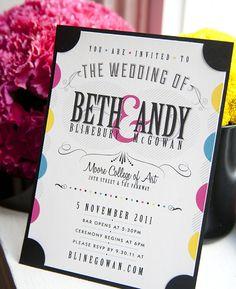 giveme-design: (via CMYK-themed Wedding... | Must be printed