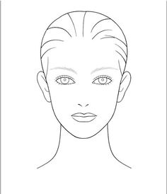 Blank face chart beauty pinterest face charts chart and face blank face template for hair and makeup foundation of your choice concealer of your choice maxwellsz