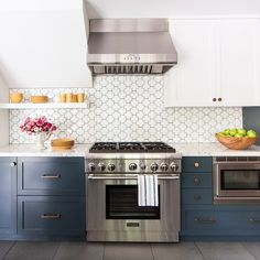"Backsplash is Gotham Swiss Cross in Bright White (Designer: Leslie Sachs,<a href=""http://breathingrm.com/""> Breathing Room Design</a>, Photographer: <a href=""http://johnellisphoto.com/"">John Ellis Photo</a>)"
