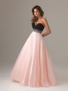 Robe princesse classique pour le bal de promo