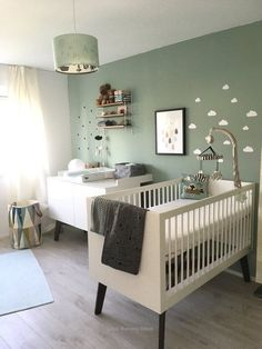 The color green stands for relaxation and nature. For more peace in your children's room . - kinderzimmer in pastell - Home Decor Baby Room Boy, Baby Bedroom, Baby Room Decor, Nursery Decor, Living Room Decor, Living Spaces, Bedroom Decor, Nursery Ideas, Nursery Furniture