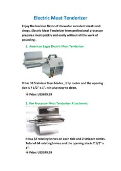ProProcessor supplies stainless steel #tenderizers which you can use for commercial purposes in the field of tenderizing meats easily.