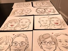 Some caricature drawings done from Niloo the caricature artist a few years ago. Caricature Artist, Caricature Drawing, Caricatures, Portrait, Drawings, Illustration, Color, Headshot Photography, Colour