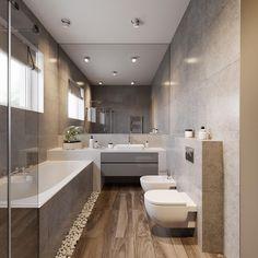 Five best small condo interior design - UneeLives Minimal Bathroom, House Design, Beautiful Bathroom Designs, Ideal Bathrooms, Contemporary Kitchen, Contemporary Apartment, Small Apartment Design, Bathroom Design, Contemporary Kitchen Decor