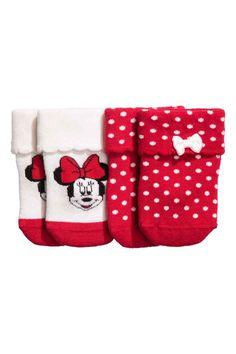 2-pack socks - White/Minnie Mouse - Kids | H&M GB