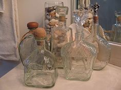 I decant my bubble bath into pretty tequila bottles. The more expensive tequila has the prettiest bottles. Tequila Bottles, Alcohol Bottles, Bottles And Jars, Glass Bottles, Empty Liquor Bottles, Altered Bottles, Antique Bottles, Liquor Bottle Crafts, Patron Bottle Crafts