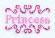 Princess Florish - 4x4 | Princess | Machine Embroidery Designs | SWAKembroidery.com Starbird Stock Designs