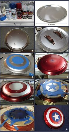 "Read, Bleed, Feed: A ""real"" Captain America shield diy Diy Costumes For Boys, Boy Costumes, Super Hero Costumes, Superhero Room, Superhero Party, Cosplay Tutorial, Cosplay Diy, Avengers Room, Diy For Kids"