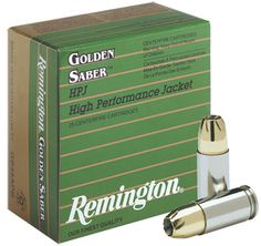 Remington 9mm Luger +P 124 gr Golden Saber 25/box