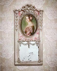 Trumeau Mirror, Mirror Mirror, Fairytale Cottage, Miniature Tutorials, Miniature Rooms, Tiny Treasures, House Interiors, Doll Houses, Dollhouse Furniture