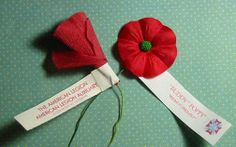 American Legion Auxiliary Buddy Poppies. Photo from Kitten Creates: Always Remember