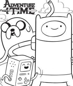 34 Best Adventure Time Coloring Pages Images On Pinterest