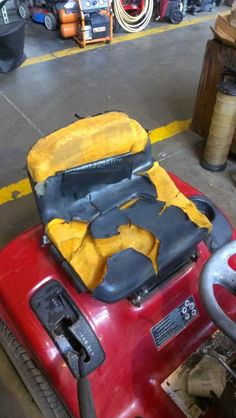 May we suggest a new seat for this still hard working mower :)
