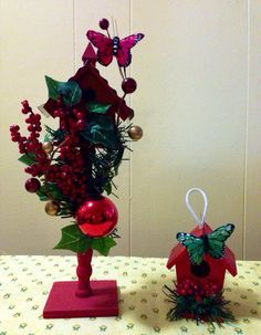Christmas Decorations, Christmas Ornaments, Holiday Decor, Birdhouse Designs, Bird Houses, As You Like, Projects To Try, Gems, Bling
