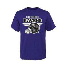 NFL Baltimore Ravens Boys Core T-Shirt ($13) ❤ liked on Polyvore featuring tc