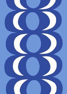Marimekko Kaivo blue by Maija Isola Motifs Textiles, Textile Patterns, Textile Design, Fabric Design, Pattern Design, Print Patterns, Floral Patterns, Pattern Art, Marimekko Fabric