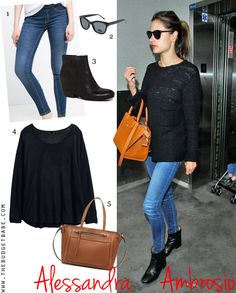Okay, so it was a slow day for celebrity style - but Alessandra Ambrosios oversized black...