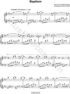 Print and download Baptism sheet music by Paul Cardall arranged for Piano. Instrumental Solo in Ab Major.