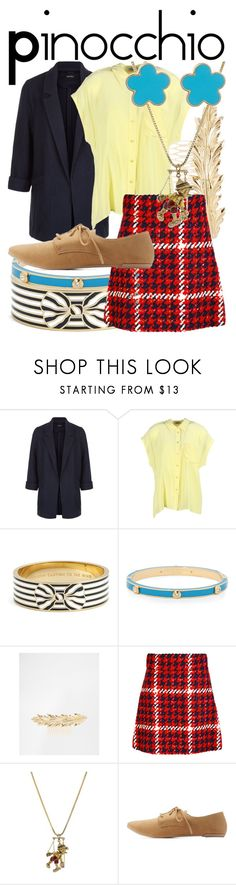 """""""Pinocchio"""" by fabulousgurl ❤ liked on Polyvore featuring New Look, Equipment, Kate Spade, Henri Bendel, ASOS, Miu Miu, Disney Couture, Qupid, Fornash and disneybound"""