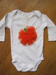 Adorable Ruffle Pumpkin Fall Halloween Baby Girl by CuteyPatoot, $22.00