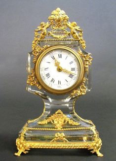 Lot: 19th C.French Bronze & Baccarat Crystal Clock, Lot Number: 0516, Starting Bid: $1,000, Auctioneer: Royal Antiques, Auction: European Furniture and Decorative Art, Date: January 29th, 2017 EET