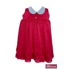 This designer frock from will be a perfect pick for your little fairy. The Peter Pan collar will surely get her noticed. Team this knee-length frock with matching sandals as you dress her up for a family function.
