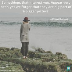 Big Picture | Quote Shots  |  KrsnaKnows -   Somethings that interest you. Appear very near, yet we forget that they are big part of a bigger picture.  http://www.krsnaknows.com/big-picture/