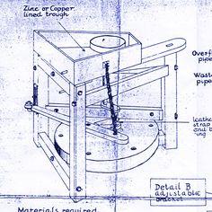 Leach Treadle Wheel Blueprint Section