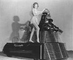 Anne Francis with Robby the Robot 1956