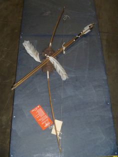 Black Arrow Native American replica bow and arrow up for auction through Viperbid Michigan on June 25, 2012.