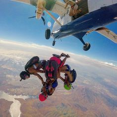 """306 Likes, 9 Comments - @deannanaegele on Instagram: """"Flying is done largely with the imagination.  @robbiecya #flying #skydive #justjump #airhead #fly…"""""""
