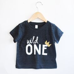Wild One tee- Child t-shirt - tee - toddler, baby, infant - American Apparel by blueenvelope on Etsy https://www.etsy.com/listing/226081251/wild-one-tee-child-t-shirt-tee-toddler