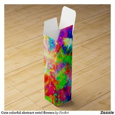 Shop Cute colorful abstract swirl flowers wine box created by ForArt. Flowers Wine, Wine Gift Boxes, Keepsake Boxes, Cute Gifts, Lava Lamp, Colorful, Abstract, Beautiful Gifts, Summary