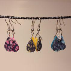Stained Glass Effect Dangle Earrings